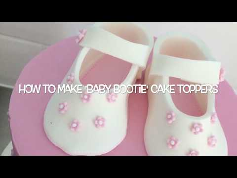How to make 'baby bootie' cake toppers