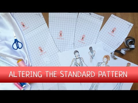 How to alter the standard wedding dress sewing pattern