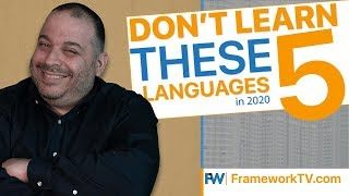 Don't Learn These 5 Languages in 2020 if You're a Beginner