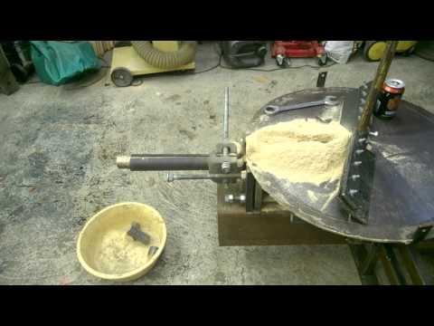 Homemade Hydraulic Sawdust Briquette Press 2
