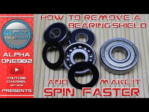 How to Make Bearings Spin Faster   How To Remove Bearings Shield for Fidget Spinner