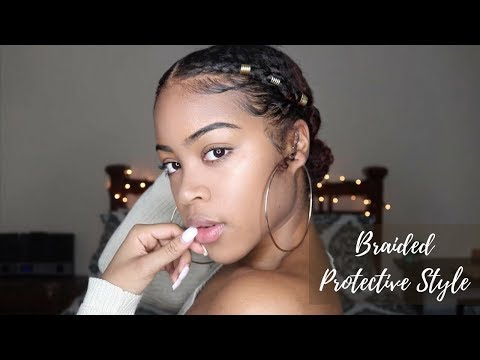 Quick and Easy Go-To Natural Protective Style | Braided Pony