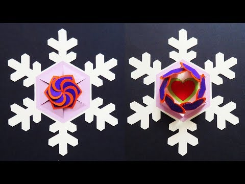 Winter love card sealed with hearts - snowflake gift envelope for Christmas - EzyCraft