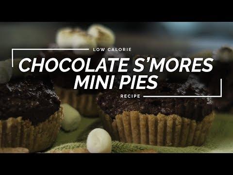 Chocolate S'mores Mini Pies | Low Calorie Pie Recipe