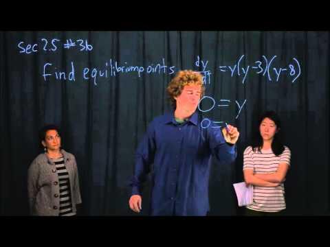 Differential Equations-Equilibrium Solutions