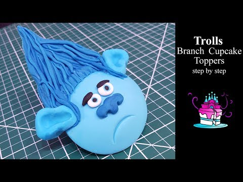 Branch from Trolls Cupcake Topper Tutorial