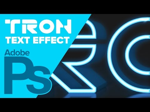 How the Create the TRON Legacy Text in Photoshop