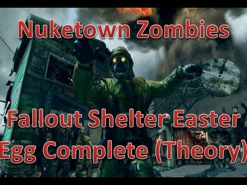 NukeTown Zombies Fallout Bunker Easter Egg  SOLVED?!Connection to Tranzit, MOON(BO2 Zombies)