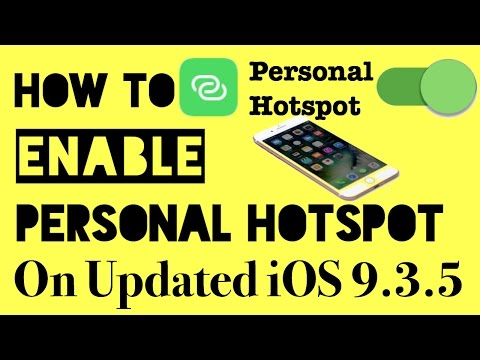 Enable Personal Hotspot in iOS 9.3.5,10 | Contact Carrier Problem Solve | Life Daily #123412