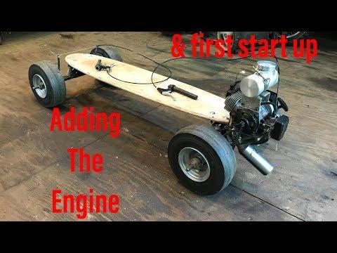 building a 49CC motorized skateboard part 2