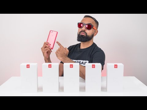 FIVE OnePlus 5T's in Lava Red
