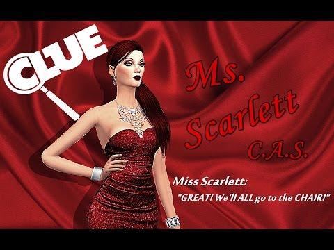 Sims 4 CLUE: Miss Scarlett Create-A-Sim