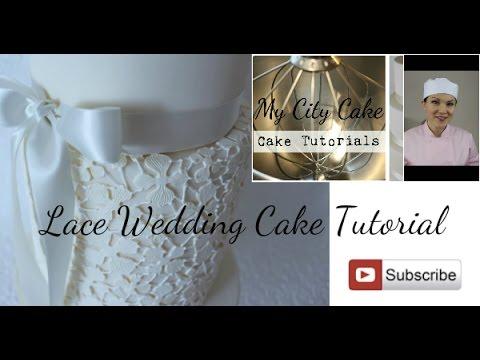 Lace wedding cake tutorial