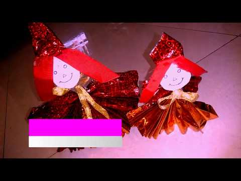 how to make lovely paper doll  : Gift it for loved ones | making of  Colorful paper doll