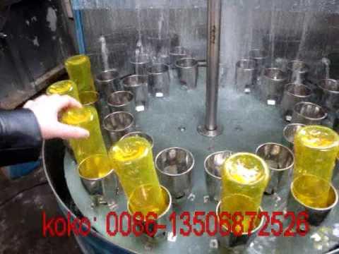 Semi auto beer glass bottle washing machine 30 nozzles manually
