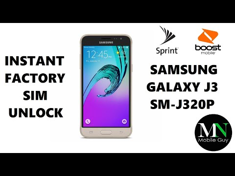 SIM Unlock Sprint Boost Virgin Samsung Galaxy J3 For Use On GSM Carriers!