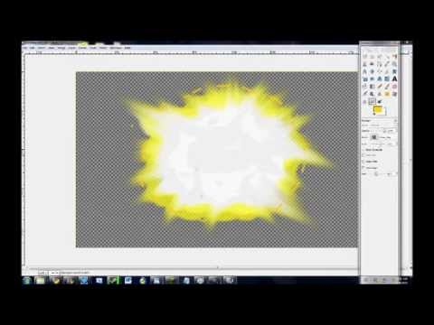 How to make a  fps muzzle flash / explosion in gimp 2