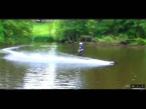 Fast RC Jet boat and fast dog