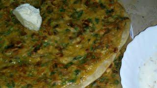 Basan walii rotti.. snacks & a proper meal..بیسن والی روٹی بنانے کا آسان طریقہ