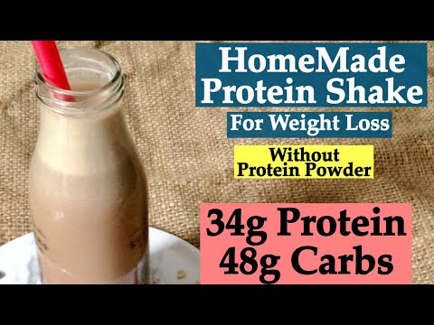 HomeMade Protein Shake Recipe without protein powder | How to make protein shake for weight Loss