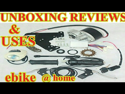 How to make a low budget Electric bike / UNBOXING review of electric cycle conversion kit
