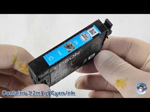 Inside Epson 29 Cyan Strawberry Ink Cartridge (C13T29824010)