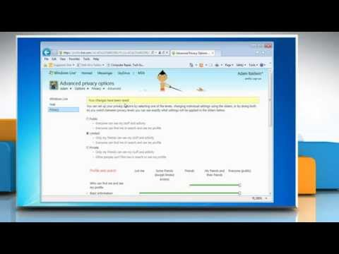 Windows® Live Messenger: How to set  Privacy settings