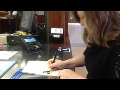 Passport application signing
