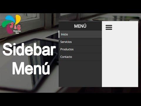 Diseñando un Sidebar Menu con HTML, CSS y JQuery