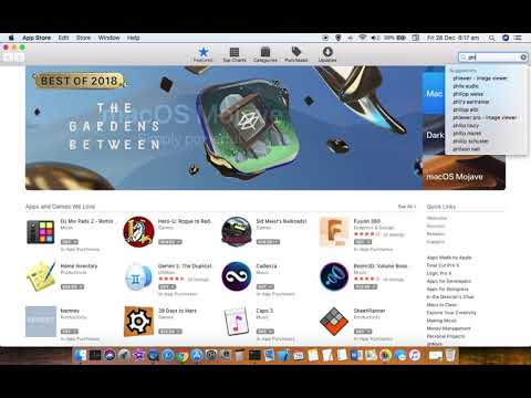 How to install apps from app store in Mac