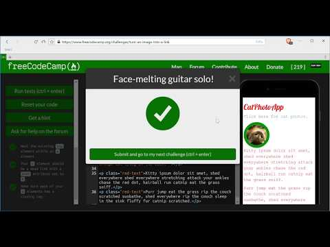 Turn an Image into a Link-freeCodeCamp HTML5 and CSS lesson #23