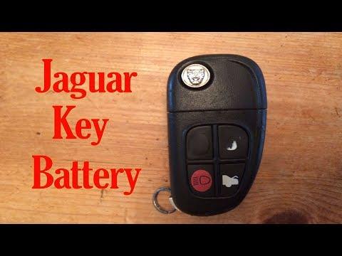 Jaguar key fob battery change