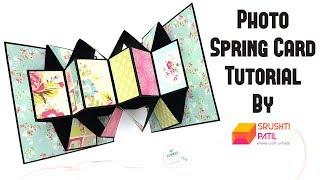 Photo Spring Card Tutorial by Srushti Patil   5 Minutes Rakhi Card   Easy To Make Rakshabandhan Card