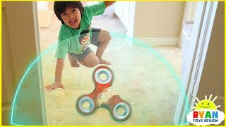 Download Ryan Pretend Play with Fidget Spinners and Avengers Superhero Hide and Seek!!! Video
