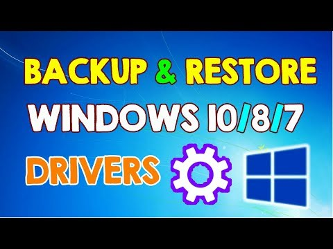 How to Backup and Restore Windows Drivers on Windows 10, 8, 7 Before Formatting Your Computer