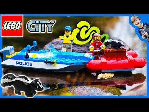 Lego City Mountain Police Boat Skunk Squad