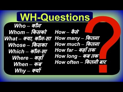 Wh Questions Exercises  | Learn Basic English Grammar in Hindi