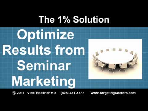 Optimize the Results from Seminar Marketing
