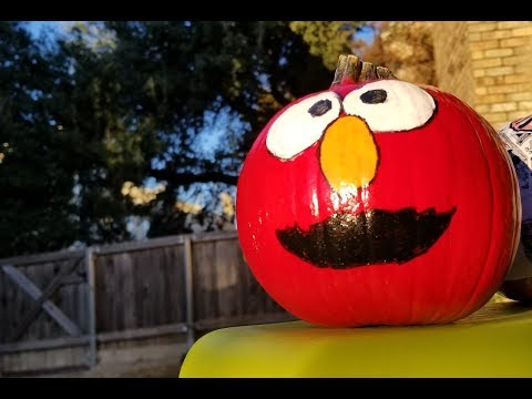{DIY} Painted 'Elmo' Pumpkin  #EpicHistoryProjects