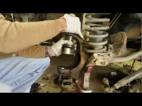 How-To replace Dana 30 and 44 Ball Joints part 2 of 3 (press in ball joints with cheap press)