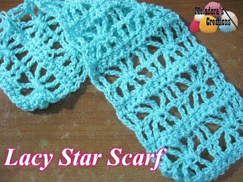 Lacy Star Scarf - Crochet Tutorial