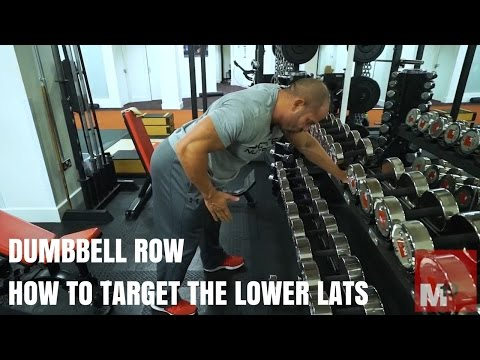 Dumbbell row - How to target the lower lats
