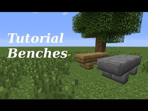 Minecraft Tutorial: Making of furniture (Benches)