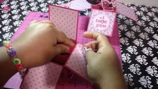 Regalo caja 3D Scrapbook regalo original San valentin y amor. Scrapbook regalo de amor original en 3D muy bonito.