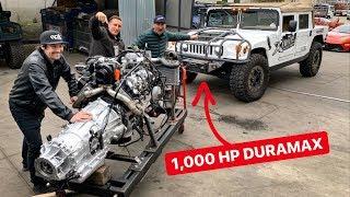 1000 HP DURAMAX SWAPPING MY HUMMER H1 PREDATOR BUILD!