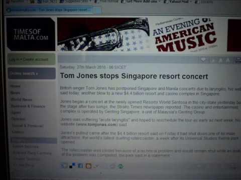 Singapore Casino Tom Jones Stops After 2 Songs