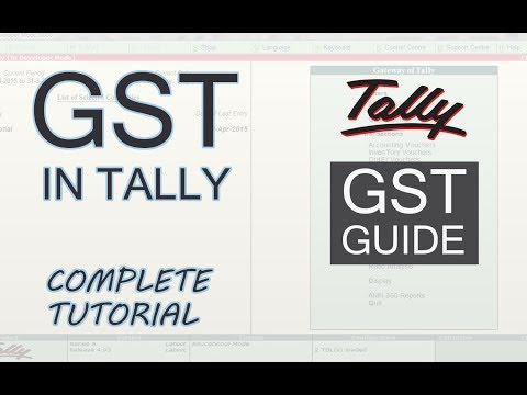 GST in Tally ERP 9 Complete Guide  | Implement GST in Tally