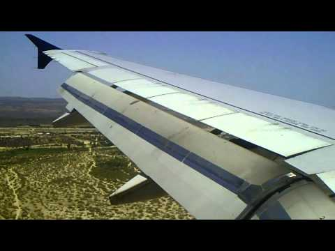 US Airways a320: Landing in Los Cabos, Mexico