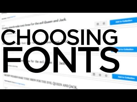 Graphic Design Tutorial: Choosing fonts