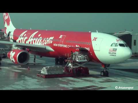 FSX Malaysia Air Asia X Airbus A330-343 9M-XXA Landing 5L RCTP Taoyuan